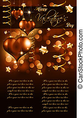 Elegant Valentines Day Flayer for important invitation