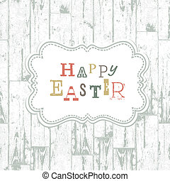 Happy easter vintage greeting card. Vector, EPS10
