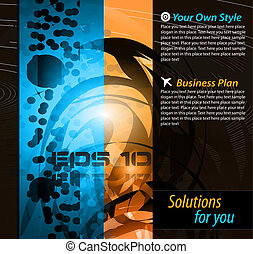 Hitech Abstract Business Background with Abstract Glowing...