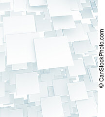 3d white cube background