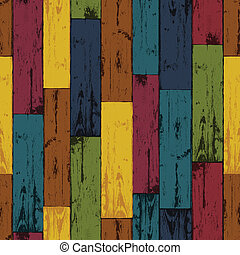 Colorful wooden background. Vector, EPS10
