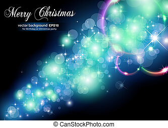 Glowing Light for Christmas Festive Backgrounds