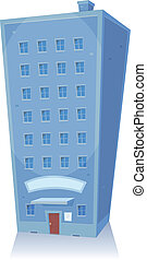 Cartoon Building - Illustration of a cartoon retail shop,...
