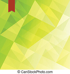 Green triangles abstract background