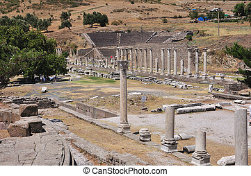 Sanctuary of Asclepius, Asclepeion ancient city in Pergamon,...