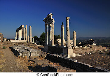 Ancient Greek City of Pergamon in Bergama, Turkey - Ancient...