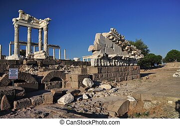 Ancient Greek City of Pergamon in Bergama, Turkey - Ancient...