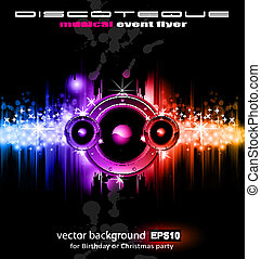 High Tech Music Disco Background - High Tech Futuristic...
