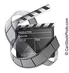 Clapboard and film strip