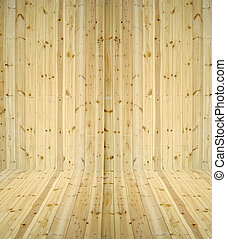 Abstract interior with parquet wooden floor