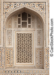 Islamic Architecture in India - Ornate white marble Mughal...