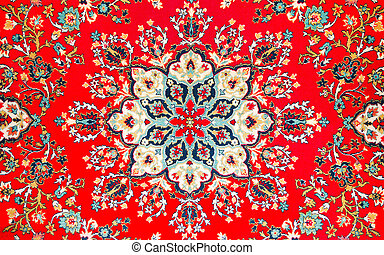 fragment of age-old east carpet - fragment of picture of...