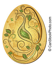 Gold Easter`s egg