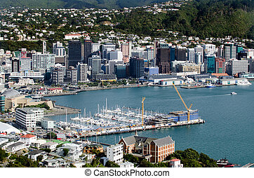 Wellington Cityscape - Wellington Harbour, North Island, New...