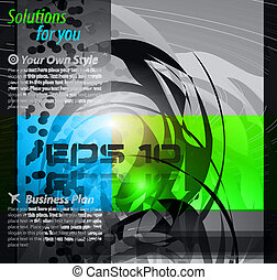 Hitech Abstract Business Background