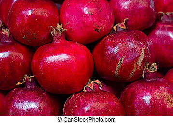 Pomegranates at the Market