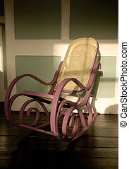 Rocking Chair - Purple Rocking chair