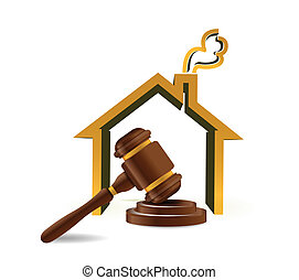 real estate auction illustration design over white