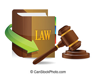 Legislation concept Balance and book illustration design...