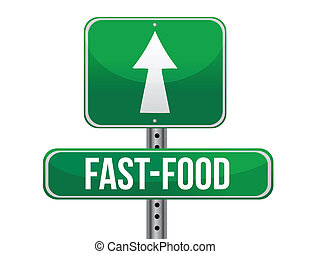 fast food road sign