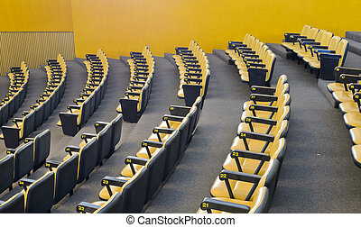 Conference hall - Yellow chairs in conference hall