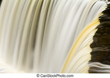 Great Lakes Waterfall Detail - Detail Close-up of...