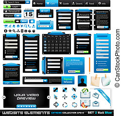 Web design elements extreme collection 2 BlackBlue - Many...