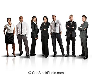 Business team - Concept of global business team on white...