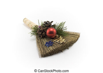 Cristmas besom - Cristmas, besom, embellishment for ated...