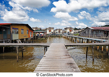 Brunei's famed water villages are fully self sufficient,...