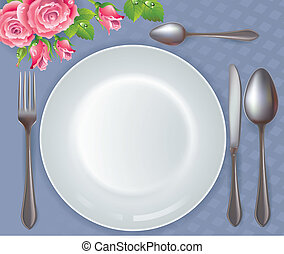 Celebratory tableware Contains transparent objects EPS10