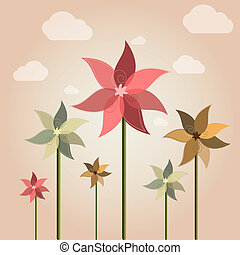 Weather vane flower - Vector weather vane in a shape of...