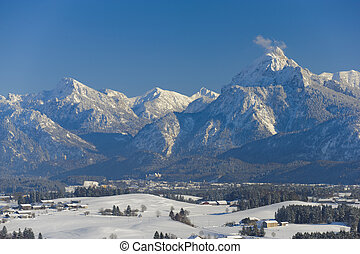 panorama view in bavaria, germany - panorama view to the...