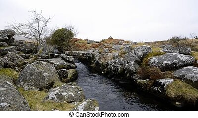 A Babbling Brook On Darmoor - A babbling brook on Dartmoor...