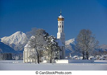 church in germany, bavaria - famous church St. Coloman...