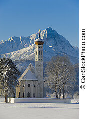 church St Coloman in germany, bavaria - famous church St...