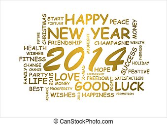 new year 2014 - word cloud for new year 2014