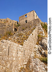 fortress ruins - the ruins of the fortress located on the...