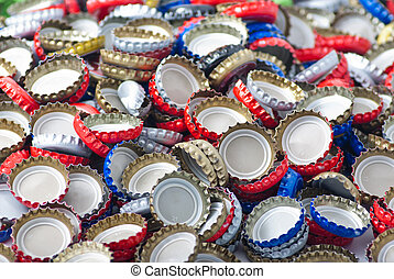 Bottle cap backgound