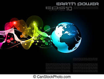 Concept Earth Planet Design Background - Concept Earth...