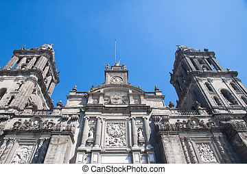 Mexico City Cathedral, Zocalo, Mexi - A detail of Mexico...