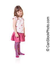 Sad little girl - Cute little girl looking sad