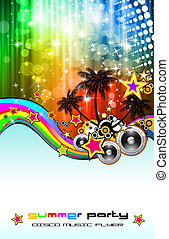 Latin Disco Event Flyer for Posters or Brochures