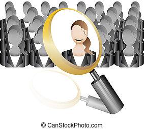 search Employee Icon for Recruitmen