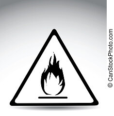 warning symbol flame -  warning symbol flame