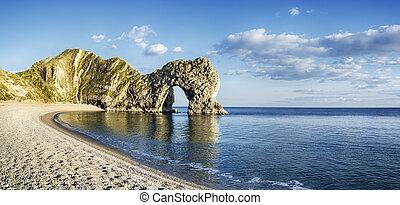 Durdle Door and Beach - Durdle Door a natural limestone arch...