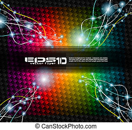 Abstract Rainbow Background with lightninngs