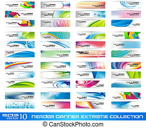 Header Banner extreme collection - ready to use for website...