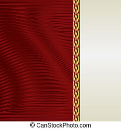 red and ecru background with gold ornaments