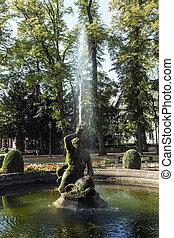 famous neptune fountain inside the Bolongaro Park